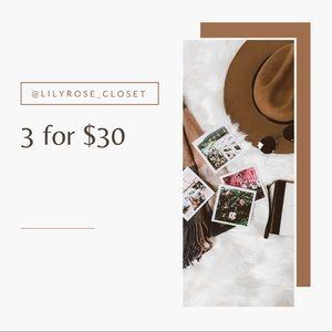 🍒sweet savings 3 for $30 N:OW on 🍒